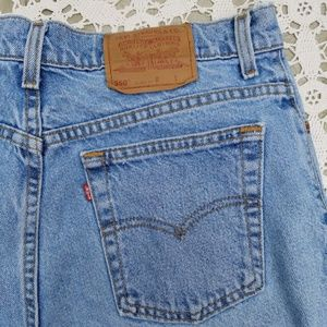 Levi's 550 Relaxed Fit Ladies 15 Shorts Retail 50